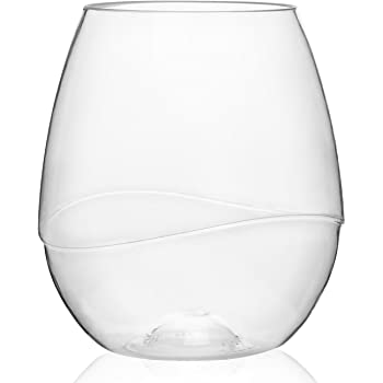 100% Tritan Plastic Shatterproof Wine Glasses, 16oz, set of 4 - BPA-free, Reusable, Dishwasher-safe Wine Goblets -Unbreakable Wine Glasses