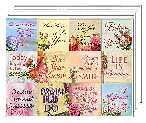 Creanoso inspirierende Motivations-Aufkleber, 20 Blatt - inspirierende Sprüche, Geschenk-Aufkleber - tolle Strumpffüller, Geschenke für Frauen und Mütter - Wand-Art-Aufkleber-Set