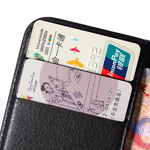 Manyip Téléphone Coque - PU Cuir rabat Wallet Housse [Porte-cartes] multi-Usage Case Coque pour Alcatel One Touch OT4015 pop C1 Classique Mode affaires Style(JFC1-6) A