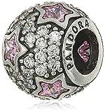 Pandora 791382PCZ Rosafarbener Folge den Sternen Charm