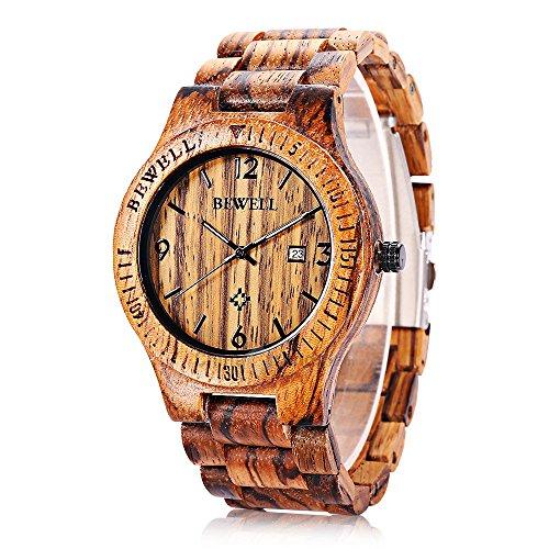 bewell-zs-w086b-legno-quarzo-bracciale-orologio-analogico-giorni-display