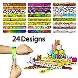 YHmall 24x Bracelets Joutes pour Enfants Filles Garçons Réfléchissants Impression de Emoji Cœur Cadeau Mignon Multicolore