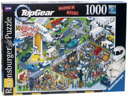 Ravensburger 19244 - Top Gear Where's Stig Studio, Puzzle da 1000 Pezzi [Lingua Inglese]