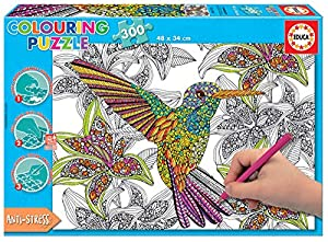 Educa Borrás- Dibujos Animados y cómic Hummingbird Colouring Puzzle, Multicolor, 37.1 x 27.2 x 5.6 (17083)