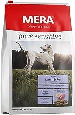 MERA pure sensitive Adult Lamm und Reis Hundefutter – Trockenfutter für ausgewachsene und nahrungssensible Hunde für die tägliche Ernährung – 1 x 12,5 kg