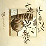 Fertig-Bild - Claudia Ancilotti: Grosseto 30 x 30 cm modernes Stillleben mit Vasen Pflanzen Beeren Blättern