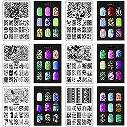 CICI & SISI Nail Art Stamp Collection Set Jumbo 3-Set von 6 JUMBO Nailart Stamping Polish Maniküre Bildplatten Zubehör Kit Alle New Designs mit GRATIS STAMPER & Schälgeräte SET WERBE ANGEBOT