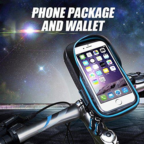 Fahrrad Rahmentasche, Fozela Wasserabweisende Fahrradtasche Oberrohr Lenkertasche Handytasche Blue