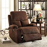 Auspicious Home Single Seater Recliner (Brown)