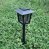 Baisde Insetti Elettrica,Fulmina Zanzare Lampada solare impermeabile della zanzara della zanzara esterna repellente repellente dell'insetto repellente della zanzara della lampada del prato LED della