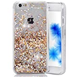 EMAXELERS iPhone 5C Coque Bling Diamnt Glitter Cristal Slim Liquied Liquid Flowing...