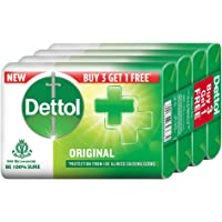 Dettol Original Germ Protection Bathing Soap bar, 75gm (Pack of 4)