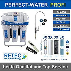 Osmoseanlage 600 GPD Ultimate PLUS PRO PROFI EDITION 2018 direct flow kein Tank nötig Umkehrosmosewasserfilter Wasserfilter Trinkwasser Umkehrosmose Reverse Osmosis