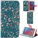 Ooboom® Huawei Honor 5X Hülle Flip PU Leder Schutzhülle Handy Tasche Case Cover Wallet Standfunktion mit Kartenfächer für Huawei Honor 5X - Pfirsichblüte