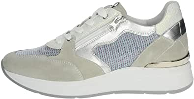 Nero Giardini - Sneakers Donna in camoscio e Tessuto - Grigio e Turchese P907722D 709 - P907722D 709