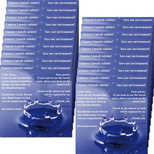 Preisvergleich Produktbild 10cm Aufkleber Sticker Hotel Pension Bad Dusche Handtuchwechsel Handtuch Handtücher wechseln (20)