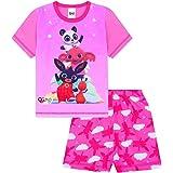 Pijama corto oficial de Bing The Bunny and Friends para niñas, color rosa