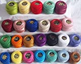 25 ANCHOR Pearl Cotton Balls. Size 8 (85 Meters each) 25 different Colours - GCS London
