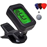 Blueberry BT-01 Digital LCD Guitar Bass Violin Ukulele Clip On Automatic Chromatic Tuner With 3 Guitar Picks
