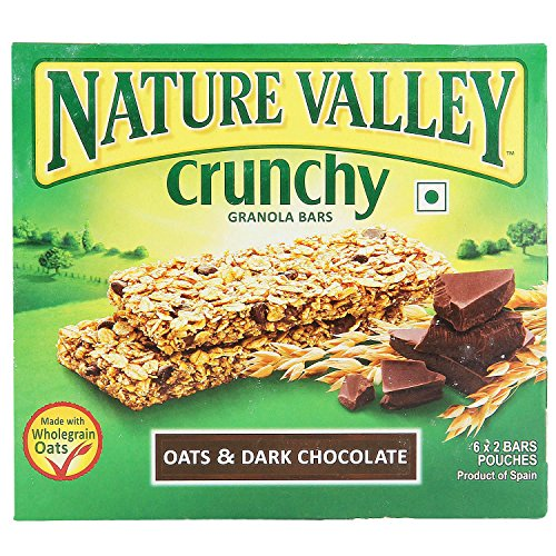 Nature Valley Crunchy Granola Bars, Oat And Dark Chocolate,(6 X 42g = 252g)