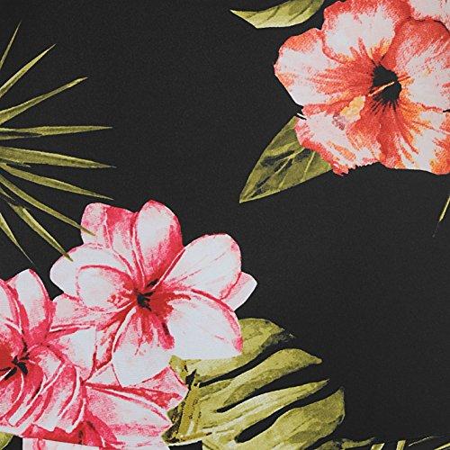 SoulCal Damen Badekleid Stretch Badeanzug Kleid Neckholder Flatlocknaehte High-Digi Floral