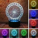7 farbwechsel rad 3D visuelle LED nachtlicht kinder geburtstag neujahr geschenk tabelle Lampara lampe baby schlaf beleuchtung