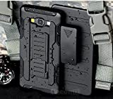 Galaxy A5 Hülle, Cocomii Robot Armor NEW [Heavy Duty] Premium Belt Clip Holster Kickstand Shockproof Hard Bumper Shell [Military Defender] Full Body Dual Layer Rugged Cover Case Schutzhülle For Samsung A500 (R.Black)