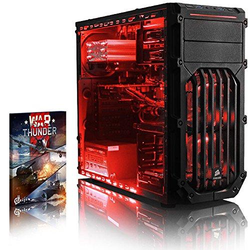 VIBOX Standard 3 PC Gamer - 3,2GHz CPU Dual Core Intel Pentium, GPU GTX 1050 Ti, Avancée, Ordinateur PC de Bureau Gaming paquet de jeux, unité centrale, Éclairage Interne Rouge (3,2GHz Processeur CPU Dual Core Intel Pentium K Anniversary G3258 Ultra Rapide, Carte Graphique Avancée Nvidia GeForce GTX 1050 Ti 4 Go, 8 Go Mémoire RAM 1600MHz, SSD 120 Go, Disque Dur 2 To, Ventilateur de processeur PC Raijintek, PSU 85+, Boîtier Corsair, Pas de Système d'Exploitation Windows)