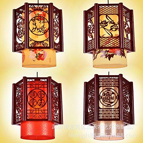 Lx.az.kx e27 moderno lampade a sospensione retro vintage industriale stile corridoio cinesi in legno balcone arts hotel piccolo ciondolo lampade a luce in legno di antiquariato, 吉