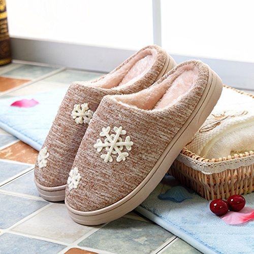 Inverno fankou pantofole di cotone borsa da donna con spessi autunno scivoloso home giovane caldo caldo cashmere inverno Grau