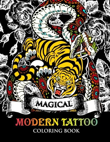 Modren Tattoo Coloring Book: Modern and Neo-Traditional