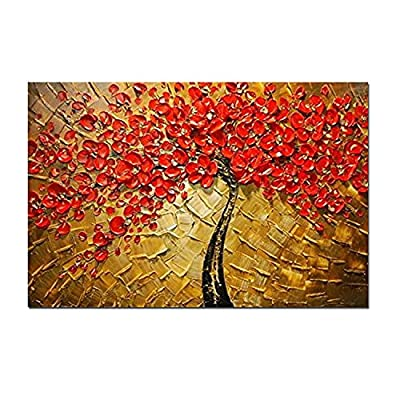 H.COZY Art - Modern Abstract Canvas Wall Art Textured Palette Knife Canvas Oil Paintings for Home Decoration Oil Painting Ft212 (No Frame) - low-cost UK canvas store.