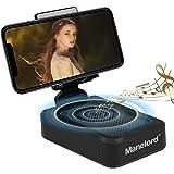 Manelord Altoparlante Bluetooth wireless con supporto per telefono, Altoparlante Bluetooth con audio surround HD con supporto