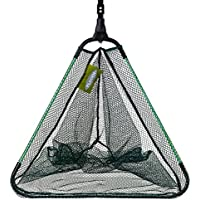 FLADEN Fishing Quality FOLDING KNOTLESS Landing Net Ideal for Still Fly Waters 50 x 50 x 60cm with Telescopic Handle 80-130cm 32-1518