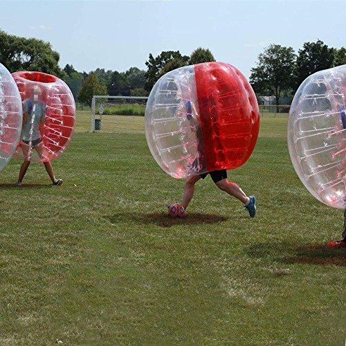 amazingsportstm burbuja bola de fútbol traje para niños barato 4pies 1.2m medio rojo medio claro PVC
