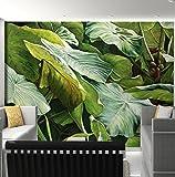 Kuamai Südostasiatischen Stil Tropischer Regenwald Grün Blätter Fototapete Küche Wohnzimmer Restaurant Moderne Einfache Wohnkultur-120X100cm