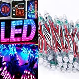 50PCS WS2811 RGB Full Color 12mm Pixels digital Addressable LED String DC 5V
