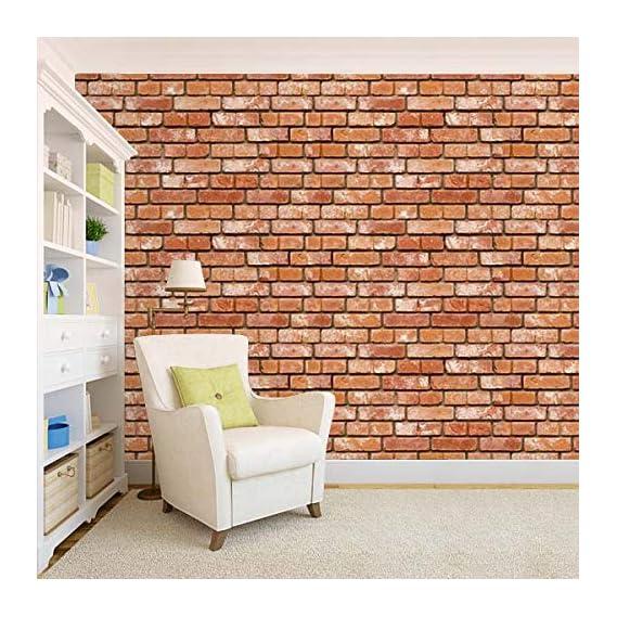 100Yellow? Bricks Texture Pattern Self Adhesive Peel & Stick Waterproof Wallpaper-44 Sqft