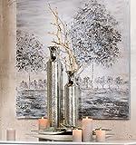 GILDE Flaschenvase Vase SPOT Alu silber gehämmert H 73 cm B 11 cm 65041