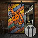 """ccjh 2,4m 96""""Paese Antico piatto stile scorrevole porta in legno Barn Track Set"""