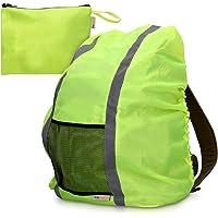 kwmobile Regenschutz Rucksack Schulranzen Regenhülle - 64x84 cm Schutzhülle für Ranzen reflektierend wasserabweisend…