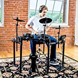 Alesis Nitro Mesh Kit | Eight Piece All-Mesh Electronic Drum Kit With Super-Solid Aluminium Rack, 385 Sounds, 60 Play-Along Tracks, Connection Cables, Drum Sticks & Drum Key included