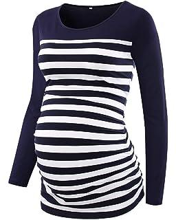 Love2Mi Damen Umstandsmode Shirt Kurzarm Umstandsbluse Schwangerschaft T-Shirt