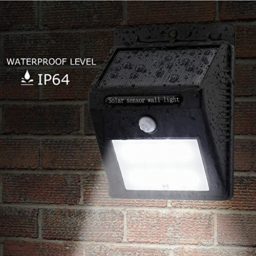 Zolmax 12 LED Solar Powered PIR Motion Sensor Light Outdoor Garden Security Wall Lights (1 Pack)