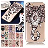 V-Ted Coque Apple iPhone 7 Plus 8 Plus Eléphant Silicone Ultra Fine Mince Bumper Housse Etui Cover Transparente avec Motif Dessin Antichoc Incassable
