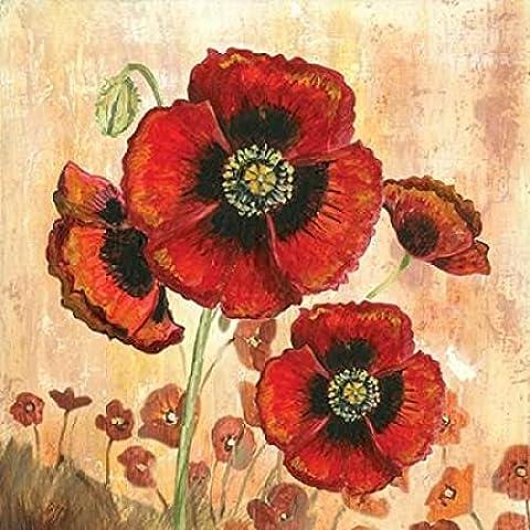 Gregory Gorham – Big Red Poppies I Kunstdruck (60,96 x 60,96 cm)