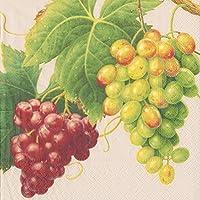 Caspari Cocktail Napkin Parchment Vineyard, Multi-Colour