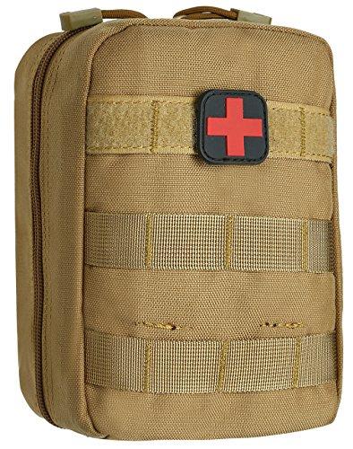 DCCN Erste Hilfe Tasche Outdoor Sport Taktische Gürteltasche MOLLE EDC Tasche Tac Pouch mit Patch - Medical Pouch Molle