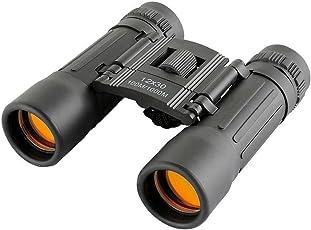 Diswa Binocular Outdoor Camping Tourism, Compact for Long Distance with Bag (Black) (Binocular 12x30)