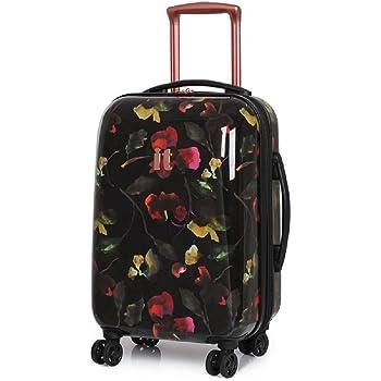 80ef0bec1e5 it luggage Dark Floral Virtuoso 8 Wheel Cabin Suitcase  Amazon.co.uk ...
